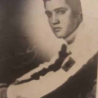 Reprint of Elvis Presley autographed photograph