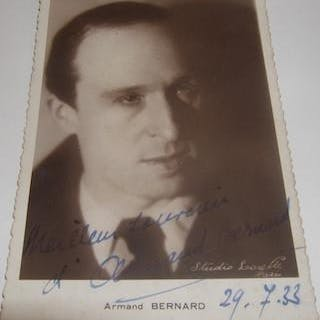 Armand Bernard Autographed Post Card
