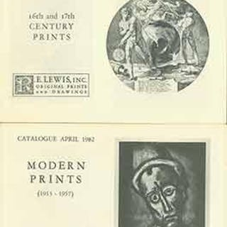 16th and 17th Century Prints November 1981 and Modern...