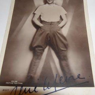 Post card autographed by Rene Lefevre