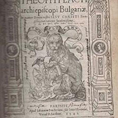 Theophylacti archiepiscopi Bulgariae In quatuor Domini...