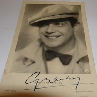 Post Card autographed by Fernand Gravey