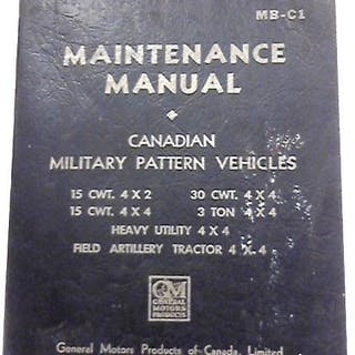 Maintenance Manual for Canadian Military Pattern Vehicles (MB-C1) 1942