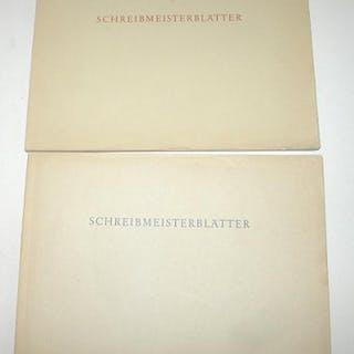 Schreibmeisterblätter (I und II) FUNKE, Dr. FRITZ: Varia/Zeitschriften