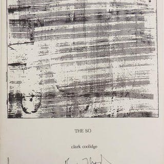 The So (Poems 1966) (Signed by Both Coolidge and Brice Marden) Coolidge