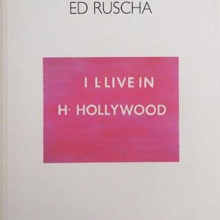 Ed Ruscha; I L-Live In H- Hollywood Art - Ruscha, Ed Conceptual Art