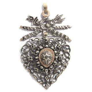 Bedeutungsvoller Diamant-Anhänger des 18. Jahrhunderts