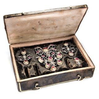 Großartiges Rubin- & Diamant-Set des Spätbarock, um 1750
