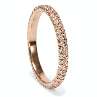 Edler Memory-Ring mit 0,52 ct Diamanten in Roségold aus zeitgenössischer