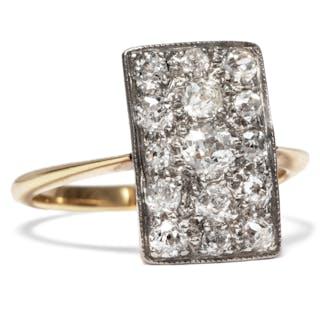 Ausdrucksvoller Diamant-Ring in Gold & Platin, um 1910