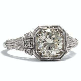 Erstklassiger 1,41 ct Diamant-Solitär in einem eleganten Weißgoldring