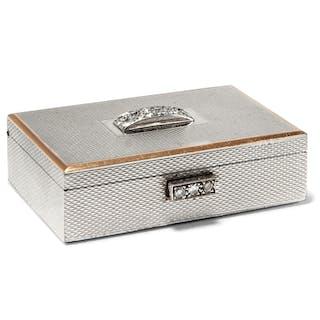Seltene kleine Dose von Van Cleef & Arpels mit Diamantbesatz, Paris um 1940