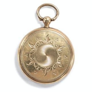 Antiker Medaillon-Anhänger in Form einer Taschenuhr, um 1900