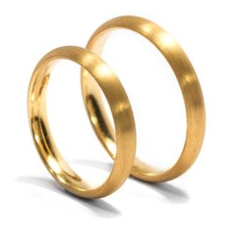 Edles Paar Eheringe in 900/000 Gelbgold aus unserer Werkstatt
