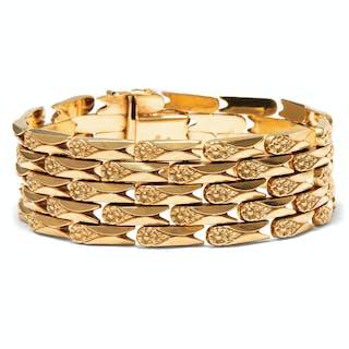 Prachtvolles vintage Armband aus hochkarätigem Gold, Italien um 1960