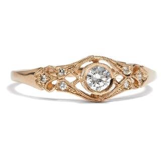 Aus unserer Werkstatt: traumhafter Roségold-Ring mit lupenreinem Diamanten