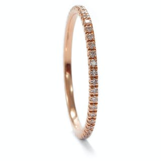 Moderner Memory-Ring mit 0,25 ct Diamanten in Roségold, RW 55, 2019