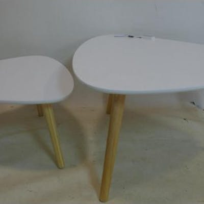 Two retro style laminate tables