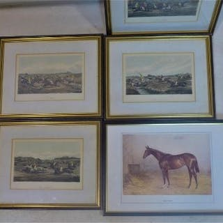 Four steeplechase colour prints after Henry Alken, to include 'The