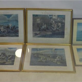 A set of four early Victorian hand-coloured engravings after Henry