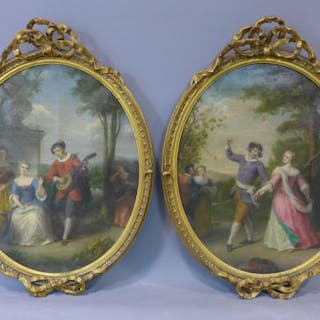 Follower of Jean-Honoré Fragonard (French,1732-1806), a pair of paintings