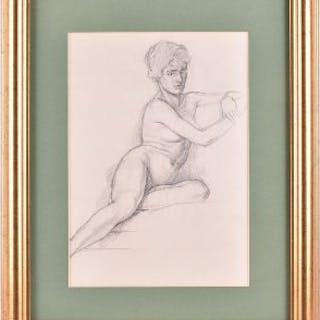 Percy Frederick Horton RBA ARCA (1897-1970) British Female nude, a