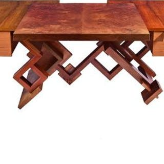 A unique Fred Baier 'art furniture' desk designed and handmade by
