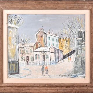 In the manner of Maurice Utrillo (1883-1955) French 'Le Lapin Agile