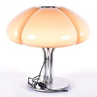 A 1960s Harvey Guzzini Quadrifoglio table lamp designed by Gae Aluenti