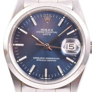 A 1991 Rolex Oyster Perpetual Date ref. 15200 stainless steel automatic