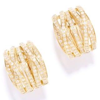 4.70 CARAT DIAMOND HOOP EARRINGS in 18ct yellow gold, each half hoop