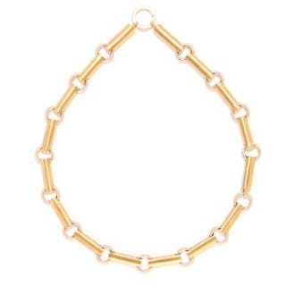 YELLOW GOLD FANCY LINK CHAIN in yellow gold, comprising of alternating