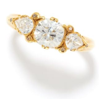 2.20 CARAT DIAMOND DRESS RING, E WOLFE & CO in 18ct yellow gold, the