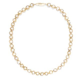 PEARL BEAD NECKLACE, CHARLES DE TEMPLE, 1957 in 18ct yellow gold