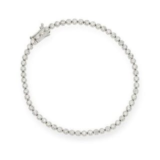 1.35 CARAT DIAMOND LINE BRACELET comprising of a single row of round