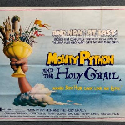 MONTY PYTHON & THE HOLY GRAIL (1960) - British UK Quad Film