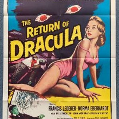 RETURN OF DRACULA (1958) - US One Sheet movie post