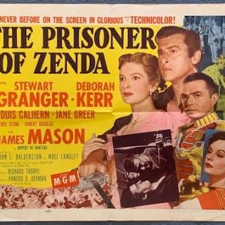 THE PRISONER OF ZENDA (1952) - US Half Sheet movie