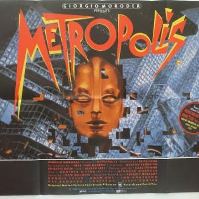 METROPOLIS (1984 Release) - UK Quad Film Poster -