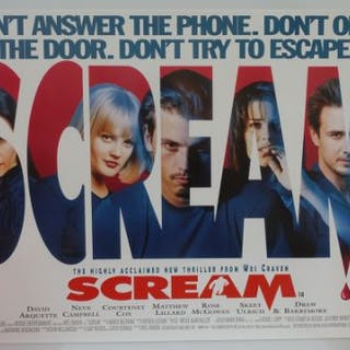 "SCREAM (1996) - UK Quad Film Poster (30"" x 40"" - 7"