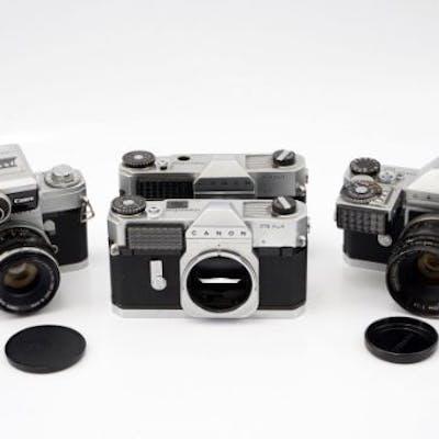 Four Canon SLR Cameras