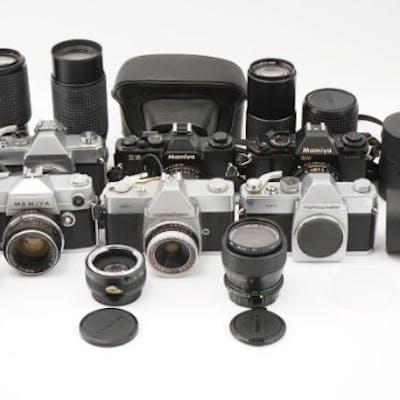 A Selection of Various Mamiya Cameras & Bodies