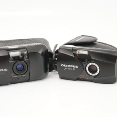 An Olympus MJU II Compact Camera