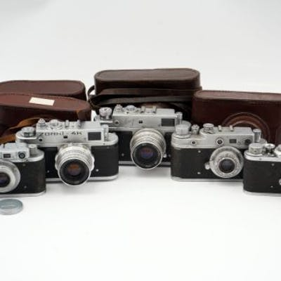 A Selection of Russian Rangefinder Cameras