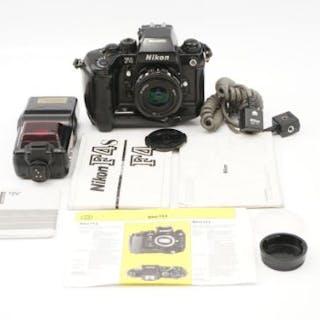 A Nikon F4s SLR Camera