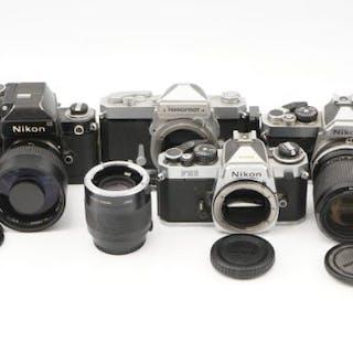 Four Nikon SLR Cameras