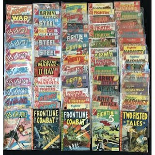 Quantity of Charlton war related comics c 1960's, includes U S  Air