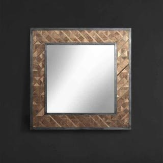 "9e9fec16d9e3 Vestige Industrial Mirror – Square ""A Modern Take On Old Timber"" A"