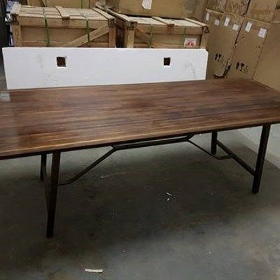 Tarmac Dining Table Asmara Ebony And Vintage Bronze Asmara Ebony Is