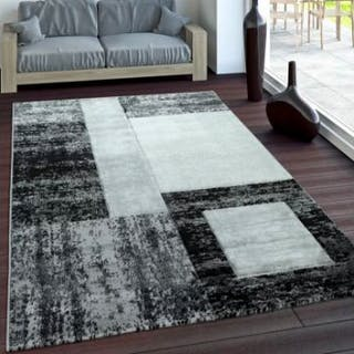 Graphic Grey/Black RugClassic Grey Tones Graphic Pattern Area Rug